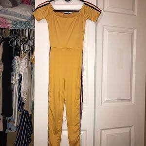 Full Body Yellow Fashion Nova Jumpsuit